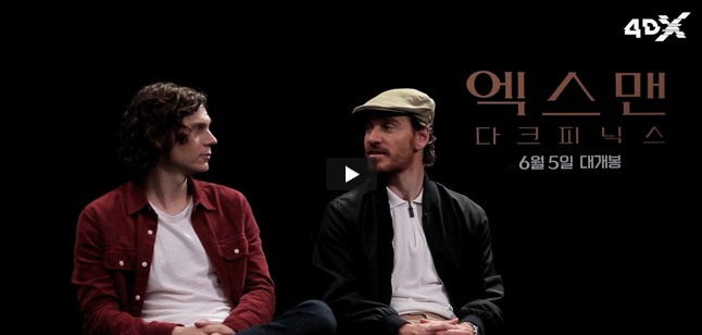 Evan Peters & Michael Fassbender video