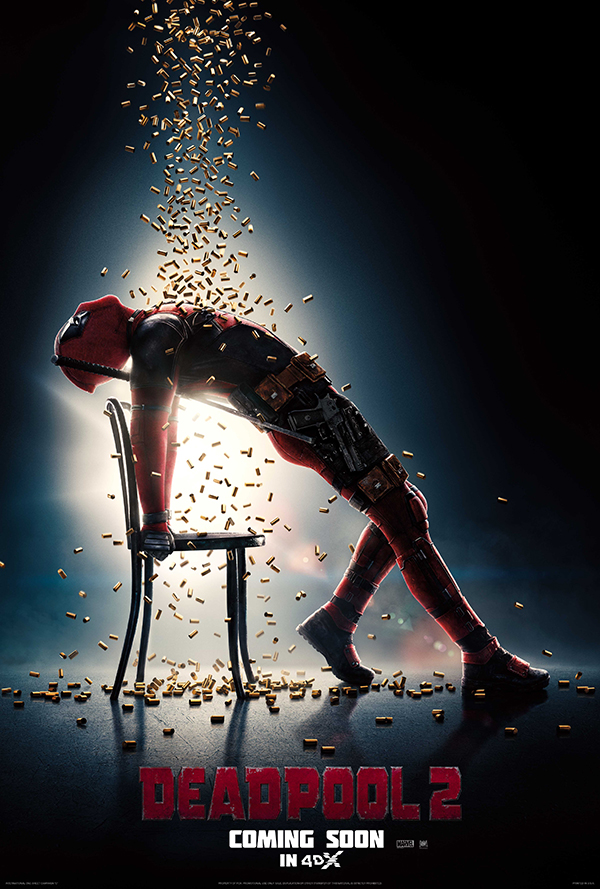 "Feel the excitement and vivid beat of ""Deadpool 2"" in the 4DX format!"