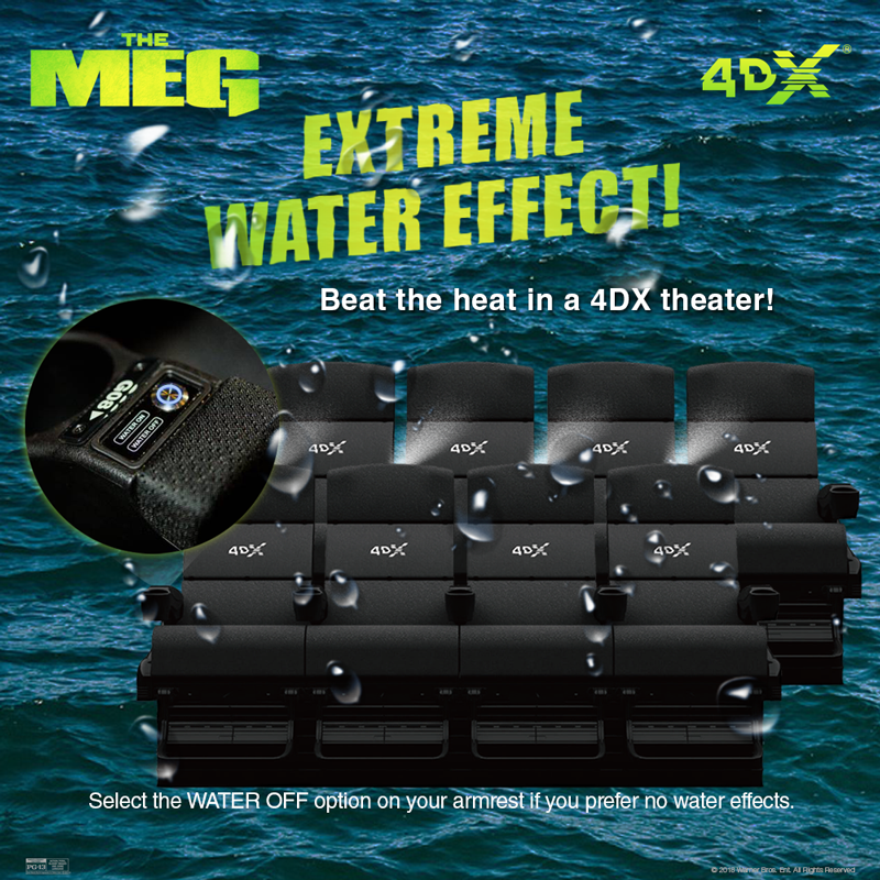 The Meg in 4DX, feel cool in summer with '4DX Extreme Cool'