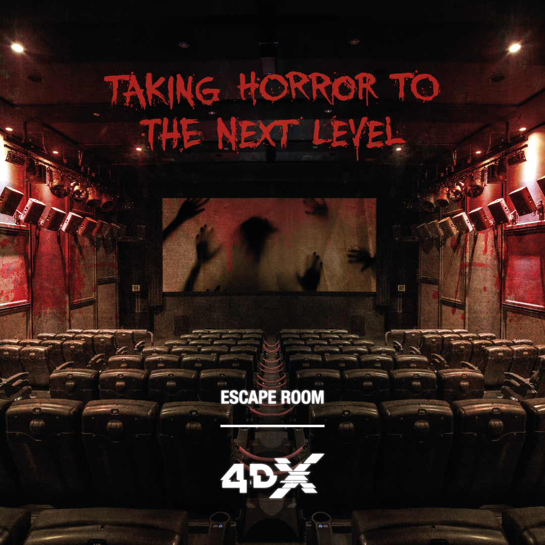 Escape Room in 4DX, experience the escape journey from trapped rooms