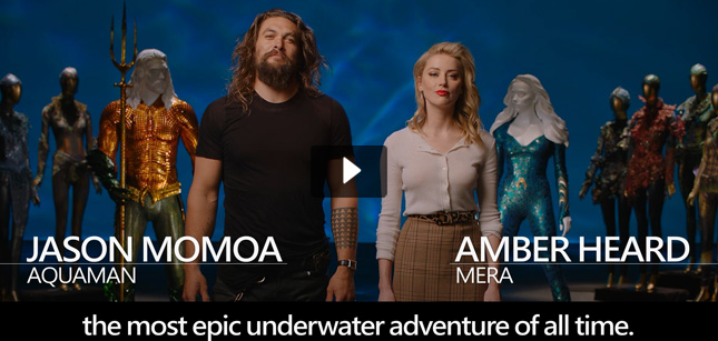 Jason Momoa, Amber Heard & Yahya Abdul-Mateen II video