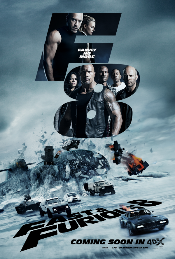 """The Fate of the Furious"" in 4DX Speeds Towards 1.5 Million Global Attendees, Becoming the Top 4DX Film of the Year"
