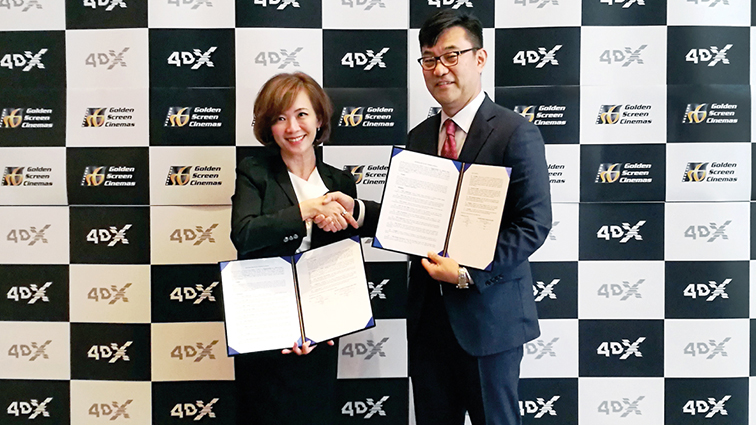 4DX Forms New Partnership with Malaysia's Golden Screen Cinemas and Signs a Strategic Deal with PVR...