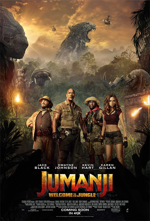 <Jumanji: Welcome to the Jungle> is a Fun, Family Movie to Experience in 4DX this Holiday Season