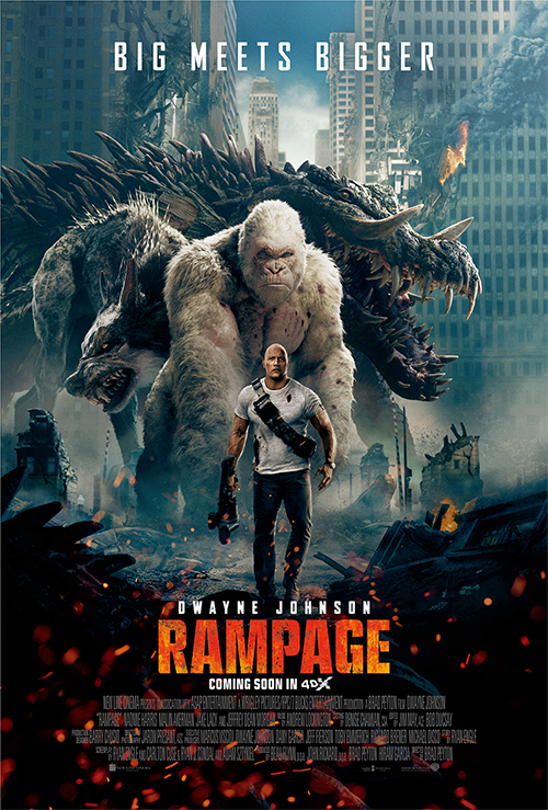 "It's a guaranteed thrill to see ""Rampage"" in 4DX!"