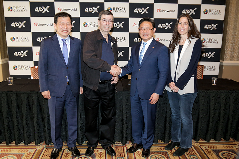 CJ 4DPLEX and Cineworld Group plc Partner to Bring 145 4DX Locations Across U.S. and Europe