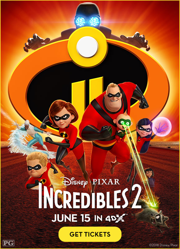 Incredibles 2, the first time releasing in 4DX!