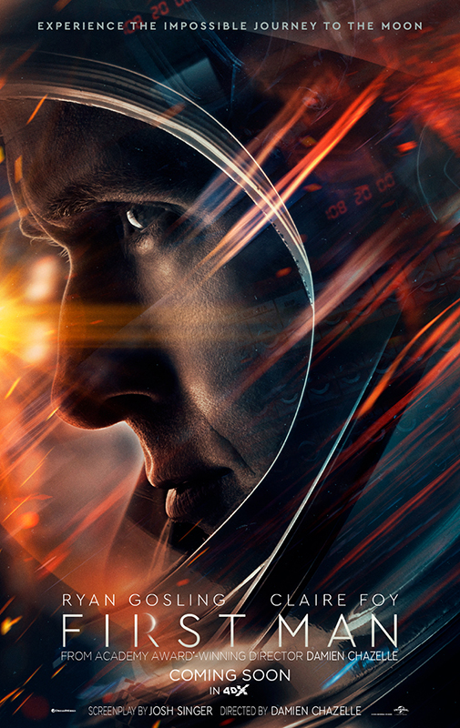 First Man 4DX, experience the journey of man's first step on the moon