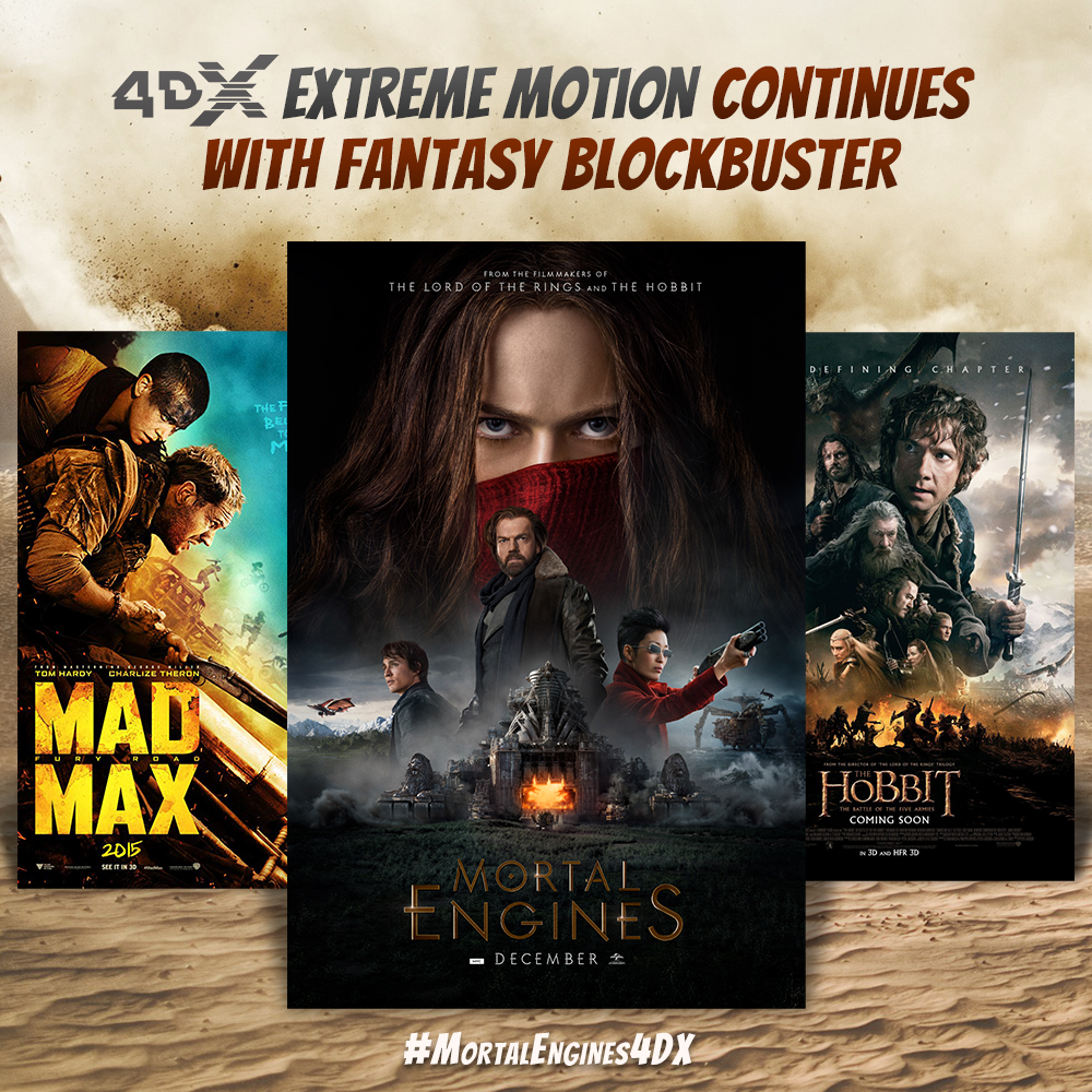 Mortal Engines 4DX, feel the rocking movements of a city on wheels