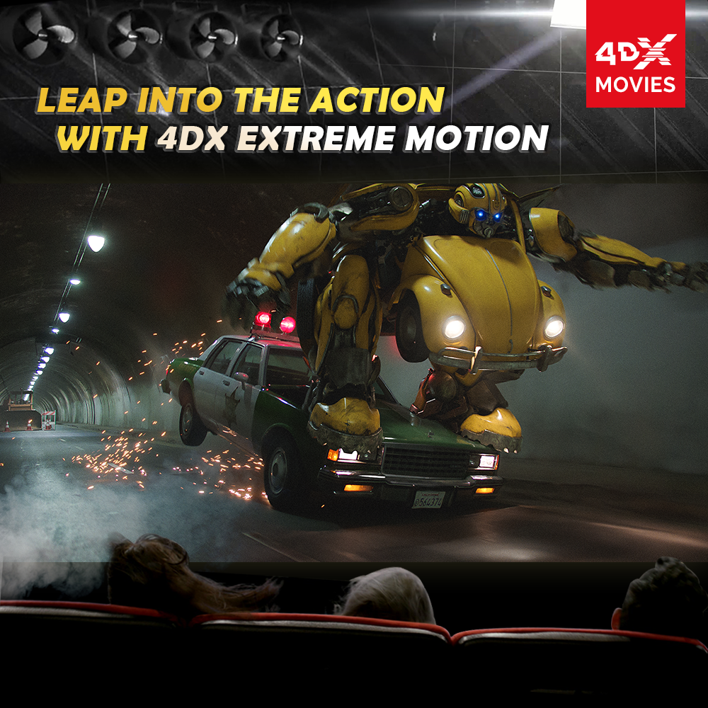Bumbling ride with 4DX! Bumblebee will be released in '4DX Extreme'