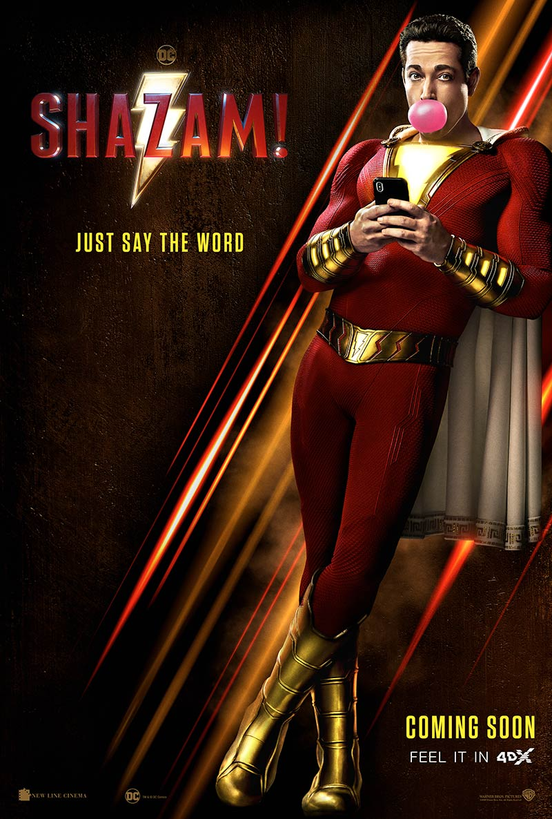 "Feel the excitement and surprising movements of ""Shazam!"" in 4DX"