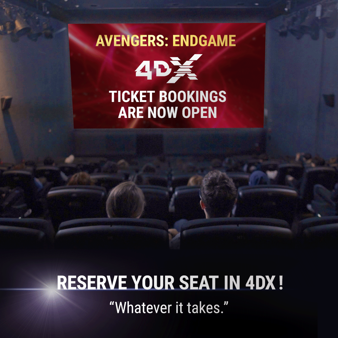 "4DX Signature Character Motions unique to each of the 10 Heroes showcased in ""Avengers: Endgame..."